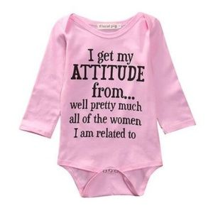 "Other - ""I get my attitude"" onesie 6,9,12,24 mo."